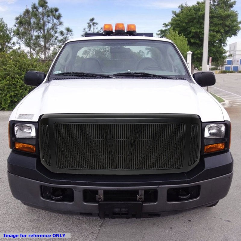 Matte Black Vertical Fence Style Front Bumper Grille For 05-07 Ford F-350 SD-Grilles-BuildFastCar