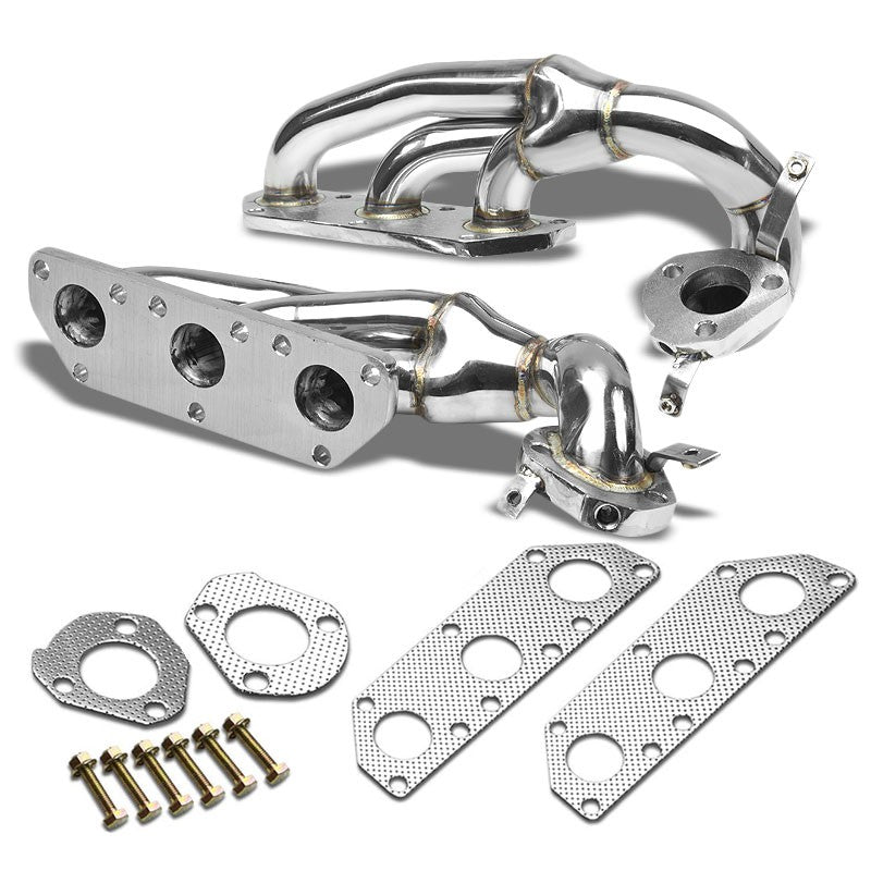 Stainless Steel Exhaust Header Manifold For 00-02 Audi S4 Base/Avant V6 2.7L-Performance-BuildFastCar