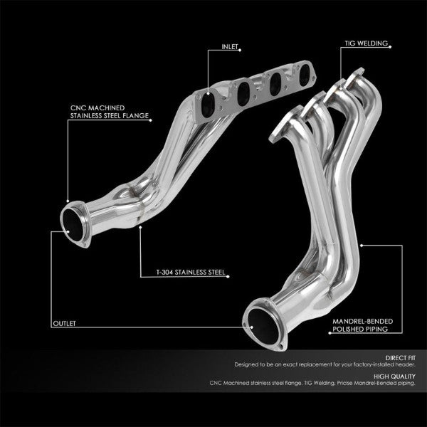 Stainless Steel Long Tube Exhaust Header Manifold For 77-79 F-100/F-150/F-250 V8-Performance-BuildFastCar