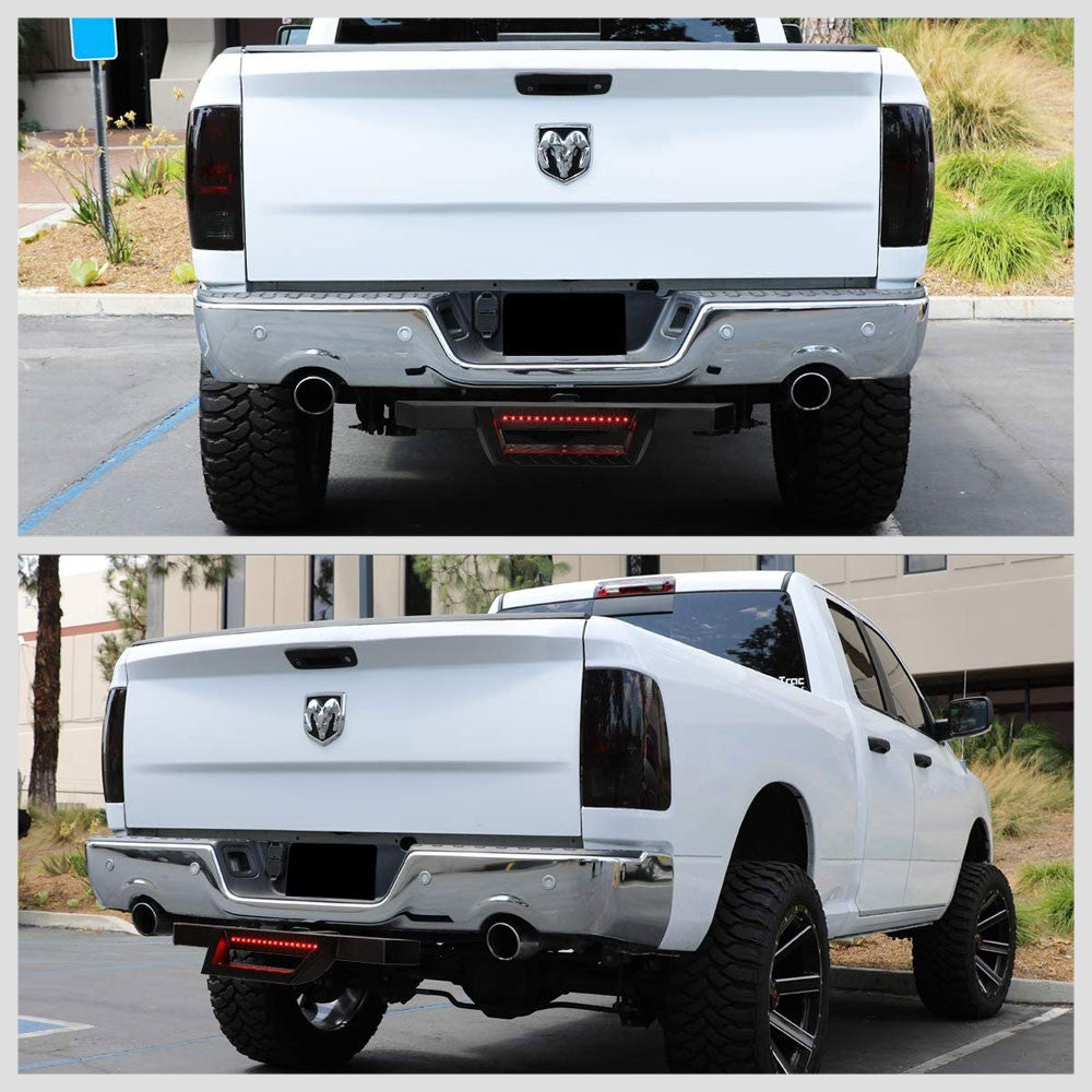 "32.5"" Long Black Rear Truck Hitch Step with LED Brake Light For 2"" Receiver-Truck & Towing-BuildFastCar"