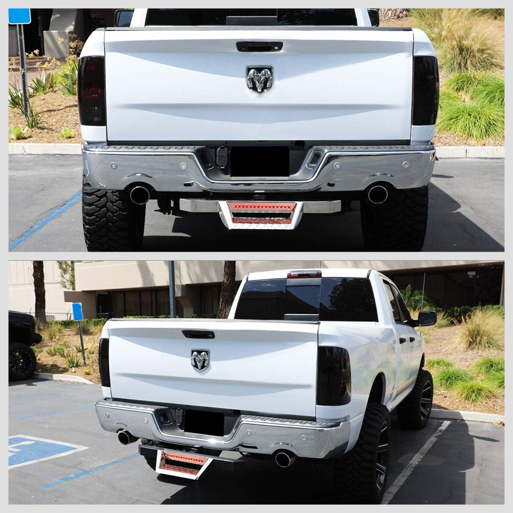 "32.5"" Long Chrome Rear Truck Hitch Step with LED Brake Light For 2"" Receiver-Truck & Towing-BuildFastCar"