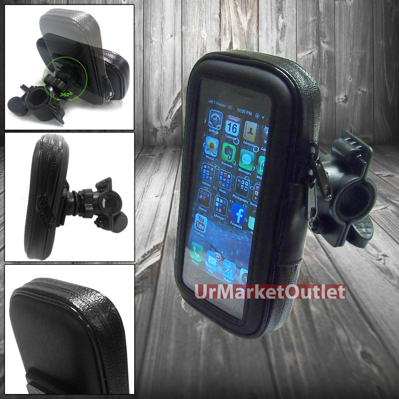 Black Waterproof Bicycle Bike Mount Holder Case For Mobile Phone-Accessories-BuildFastCar