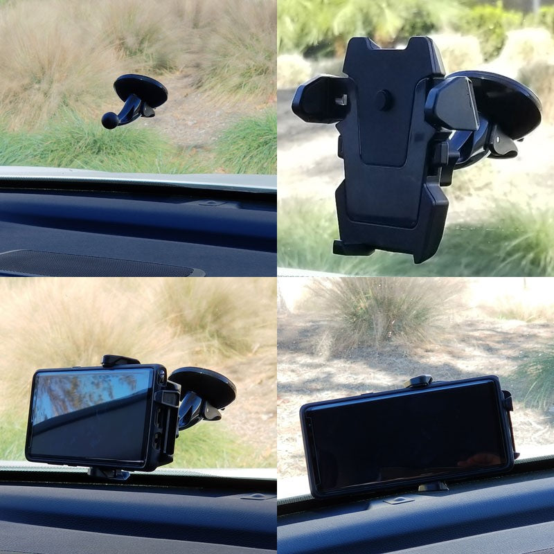 360 GripOn Quick Release Windshield TYA Car Mount Holder Stand For Mobile Phone-Accessories-BuildFastCar