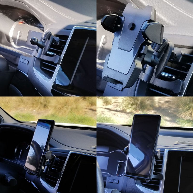 Grip Clip Air Vent TYA E1 Car Mount Holder Stand For Smartphone Mobile Cell Phone-Accessories-BuildFastCar