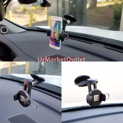 Windshield Mobile Mount Holder Stand+Fixed Blind Spot Mirror For Samsung/Apple-Accessories-BuildFastCar