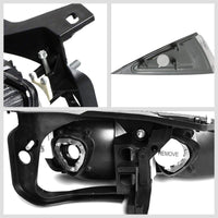 Black Housing Clear Lens Reflector Headlight For 95-99 Chevy Cavalier 2DR/4DR-Lighting-BuildFastCar-BFC-FHDL-CHEVCAV004-BKCL1