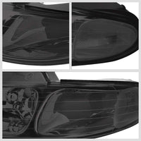 Chrome Housing Smoke Len Reflector Headlight For 96-00 Chryler Grand Voyager 4DR-Lighting-BuildFastCar-BFC-FHDL-CHRYGDV014-SMCL1