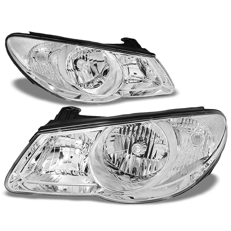 Chrome Housing/Clear Lens OE Reflector Headlight For 07-09 Hyundai Elantra 2.0L