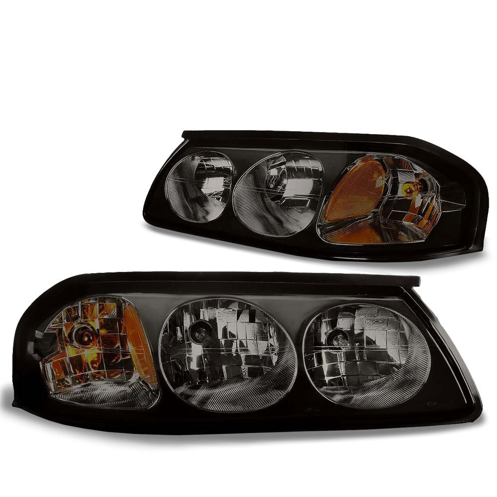 Smoke Housing Head/Lamp Light Amber Corner/Reflector For Chevy 00-05 Impala V6-Lighting-BuildFastCar