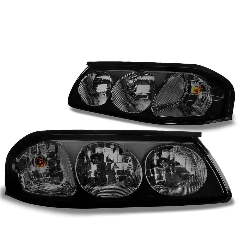 Smoke Housing Head/Lamp Light Clear Corner/Reflector For Chevy 00-05 Impala V6-Lighting-BuildFastCar