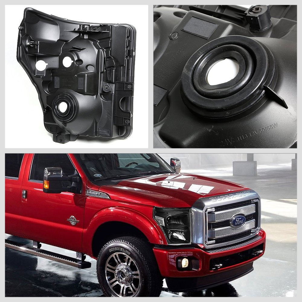 Black Headlight+Clear Corner Signal Light For Ford 11-15 F250-F450 Super Duty-Lighting-BuildFastCar