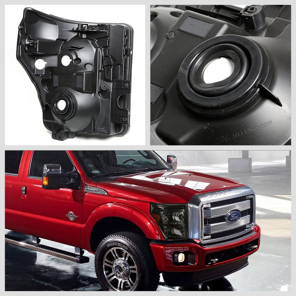 Smoke Headlight+Amber Corner Signal Light For Ford 11-15 F250-F450 Super Duty-Lighting-BuildFastCar