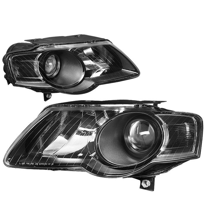 Black Housing/Clear Lens OE Projector Low Beam Headlight For06-10 VW Passat-Lighting-BuildFastCar
