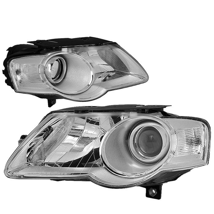 Chrome Housing/Clear Lens OE Projector Low Beam Headlight For 06-10 VW Passat-Lighting-BuildFastCar