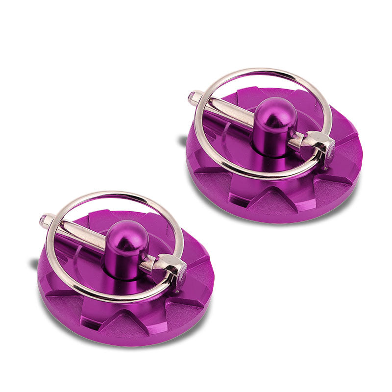 Purple Race Billet Style Aluminum Cosmetic Front Bonnet Hood Lock Pin+Cable+Tape-Hood/Bonnet-BuildFastCar