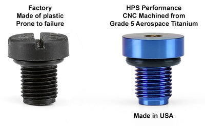 HPS Performance Blue Titanium Coolant Bleed Screw Replace OEM For BMW 5 Series
