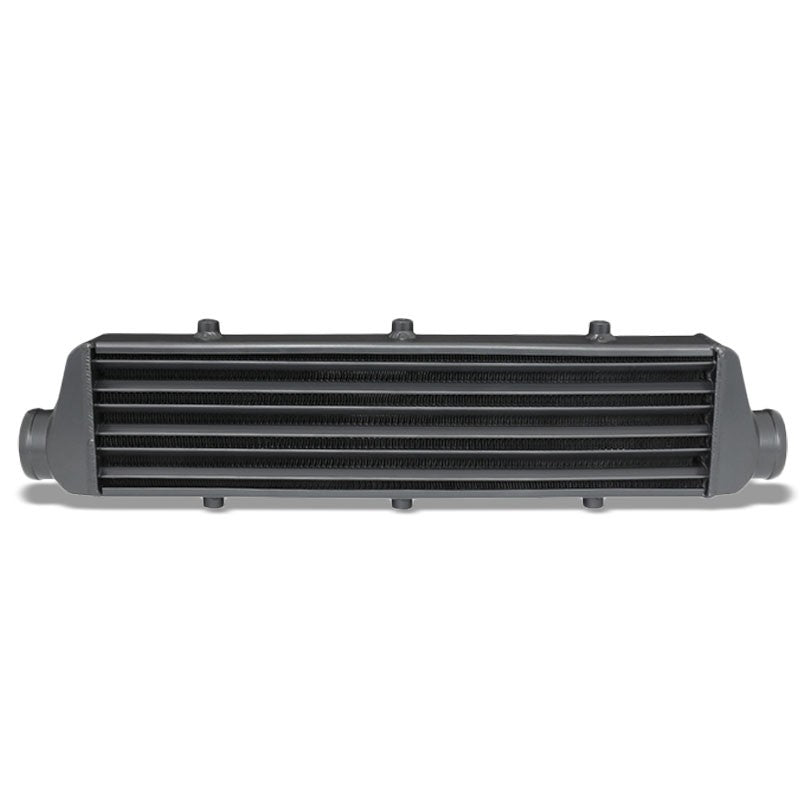 "Universal Black Aluminum Tube & Fin 27.25""L Turbo Front Mount Style Intercooler-Performance-BuildFastCar"