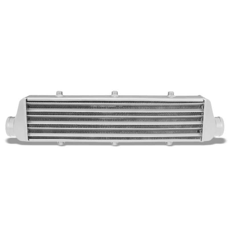 "Universal Silver Aluminum Tube & Fin 27.25""L Turbo Front Mount Style Intercooler-Performance-BuildFastCar"