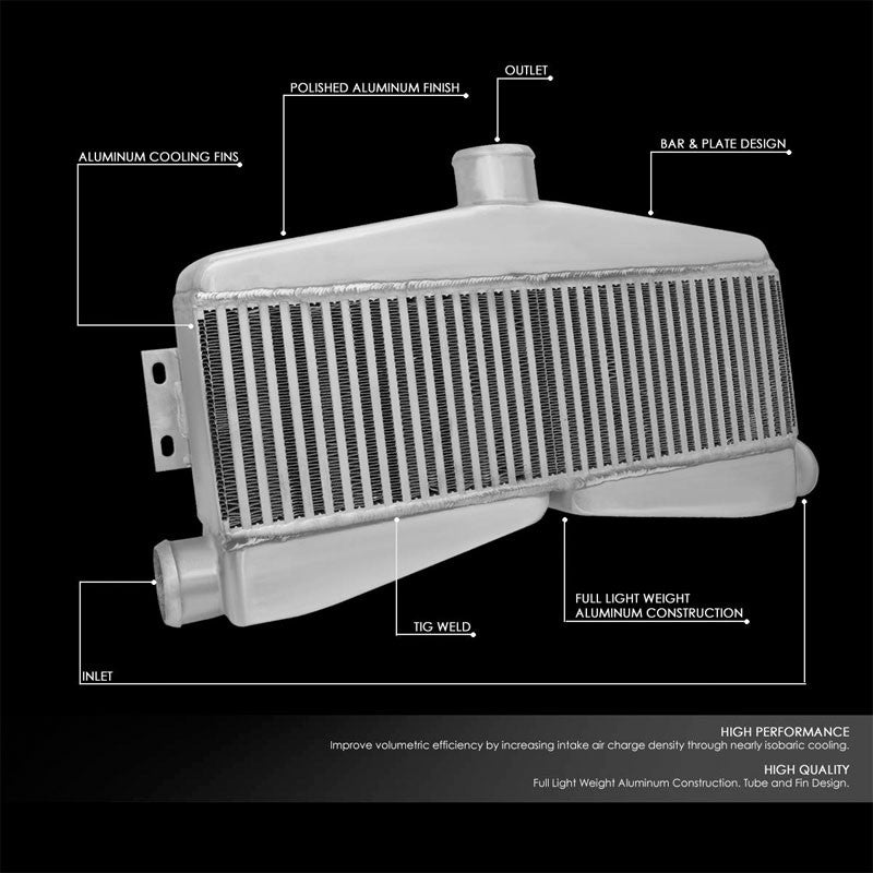 "Silver Aluminum Bar & Plate 27.50"" W Intercooler For 07-14 Chevrolet Silverado-Cooling Systems-BuildFastCar-BFC-INTCOOL-BPTY1-SL"