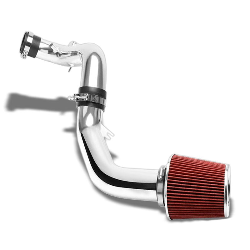 "3.00"" Polish Pipe Red Cone Filter Cold Air Intake Kit For 07-09 Toyota Camry V6-Performance-BuildFastCar"