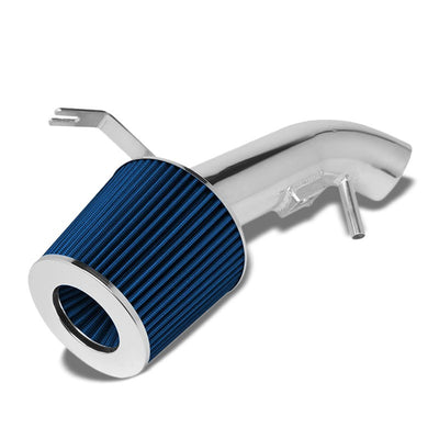 Polish Pipe Blue Dry Cone Filter Shortram Air Intake Kit For 07-12 Altima 2.5L-Performance-BuildFastCar