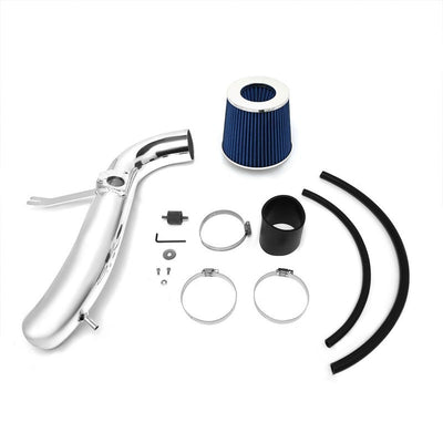 Polish Pipe Blue Dry Cone Filter Shortram Air Intake Kit For 01-05 IS300 3.0 L6-Performance-BuildFastCar