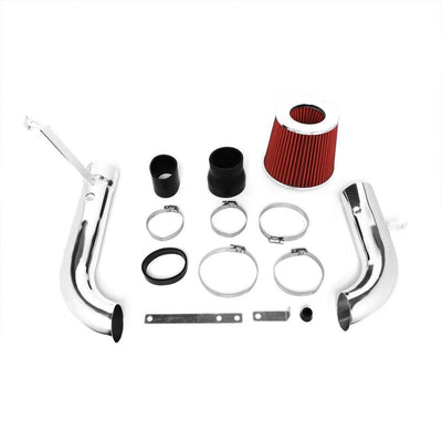 Polish Pipe Red Dry Cone Filter Shortram Air Intake Kit For 98-03 Chevy S10 2.2L-Performance-BuildFastCar