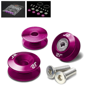 4PC J2 Purple Aluminum Trunk Bumper Quick Release Fastener Hatch Washer Kit-Washer-BuildFastCar