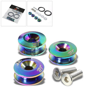 4PC J2 Neo Chrome Aluminum Trunk Bumper Quick Release Fastener Hatch Washer Kit-Washer-BuildFastCar