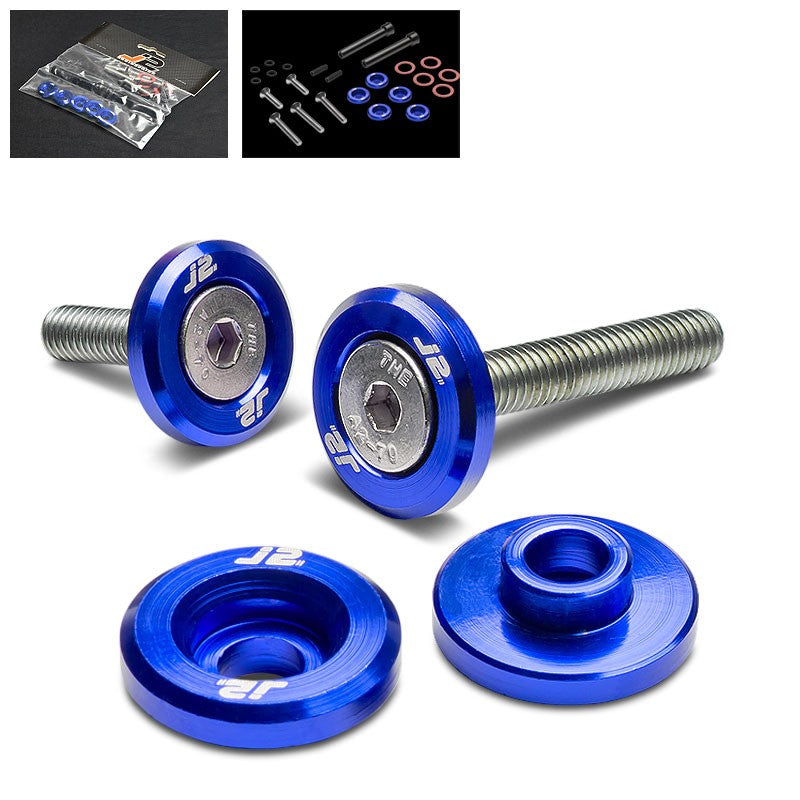 5PC J2 Blue Aluminum Engine Valve Cover Washer+Hex Bolt For Honda D-Series-Washer-BuildFastCar