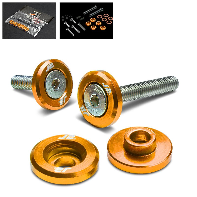 5PC J2 Gold Aluminum Engine Valve Cover Washer+Hex Bolt For Honda D-Series-Washer-BuildFastCar