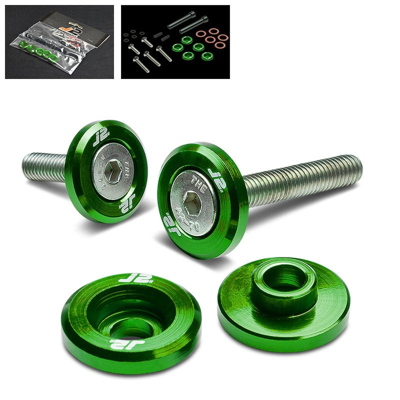 5PC J2 Green Aluminum Engine Valve Cover Washer+Hex Bolt For Honda D-Series-Washer-BuildFastCar