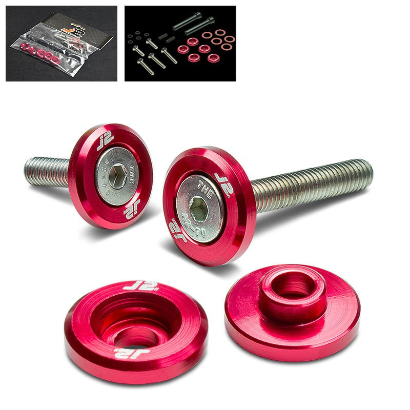 5PC J2 Red Aluminum Engine Valve Cover Washer+Hex Bolt For Honda D-Series-Washer-BuildFastCar