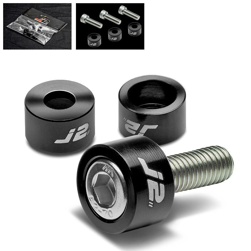 3PC J2 Black Engine Ignition Distributor Metric Cup Washer For Honda/Acura-Washer-BuildFastCar