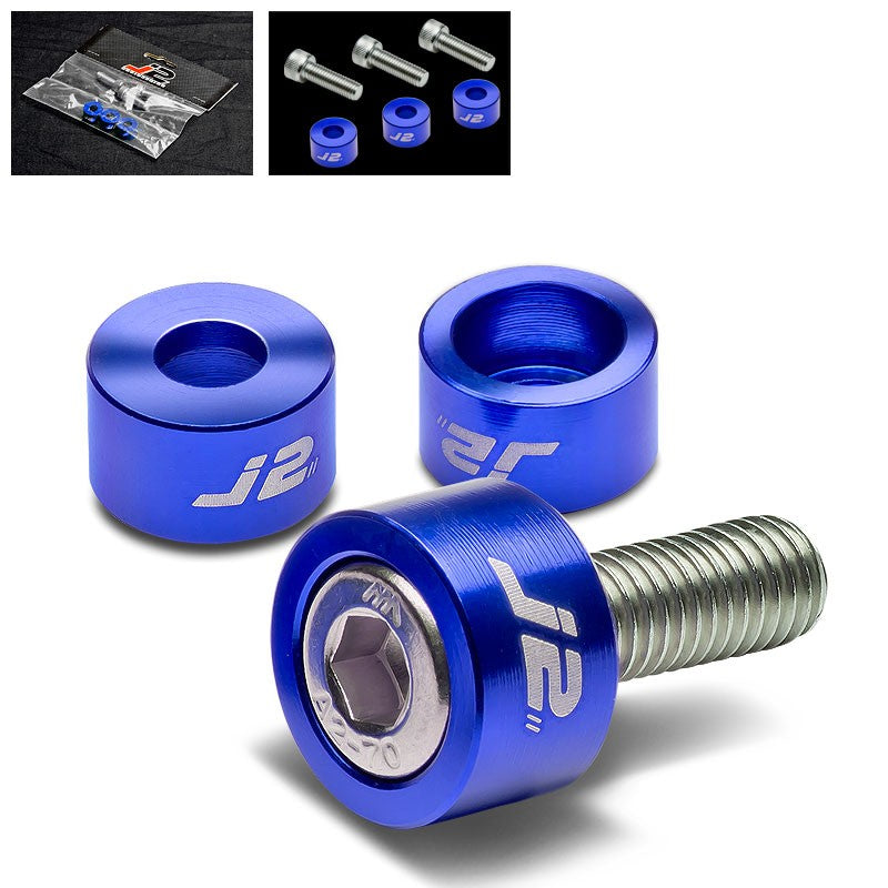 3PC J2 Blue Engine Ignition Distributor Metric Cup Washer+Bolt For Honda/Acura-Washer-BuildFastCar