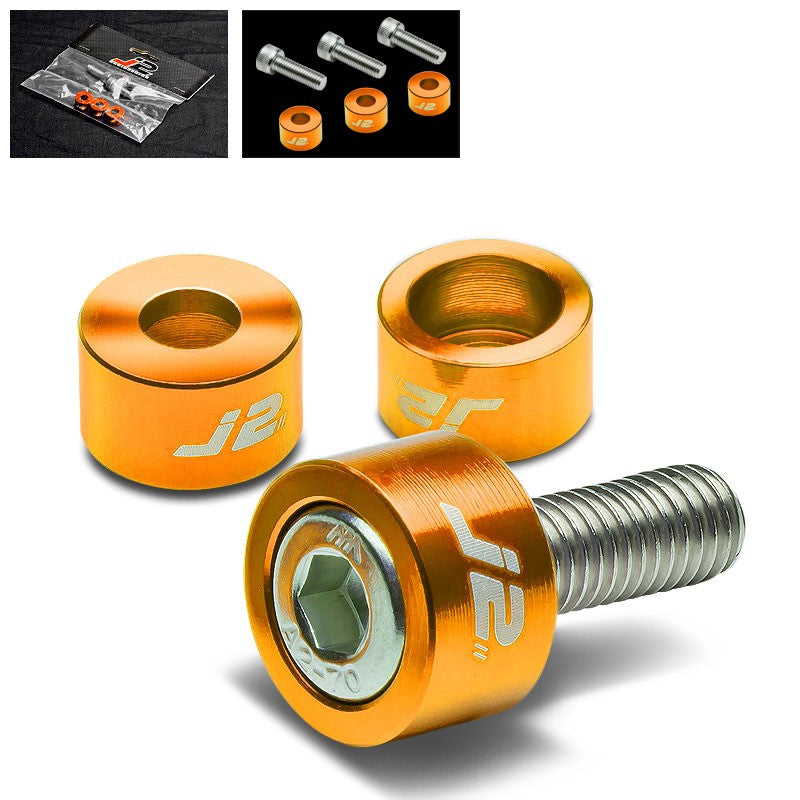 3PC J2 Gold Engine Ignition Distributor Metric Cup Washer+Bolt For Honda/Acura-Washer-BuildFastCar