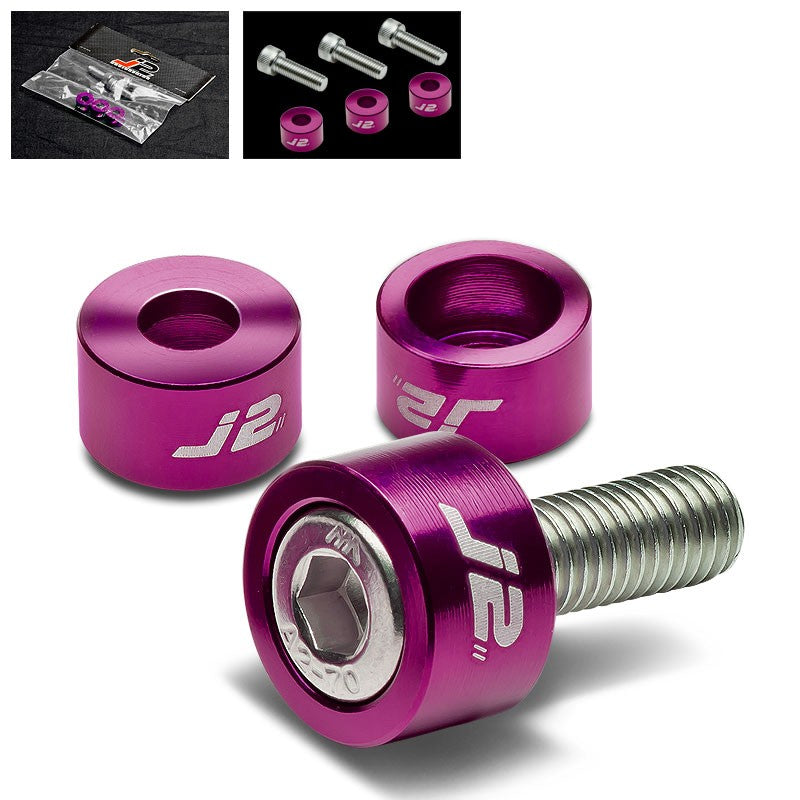 3PC J2 Purple Engine Ignition Distributor Metric Cup Washer+Bolt For Honda/Acura-Washer-BuildFastCar
