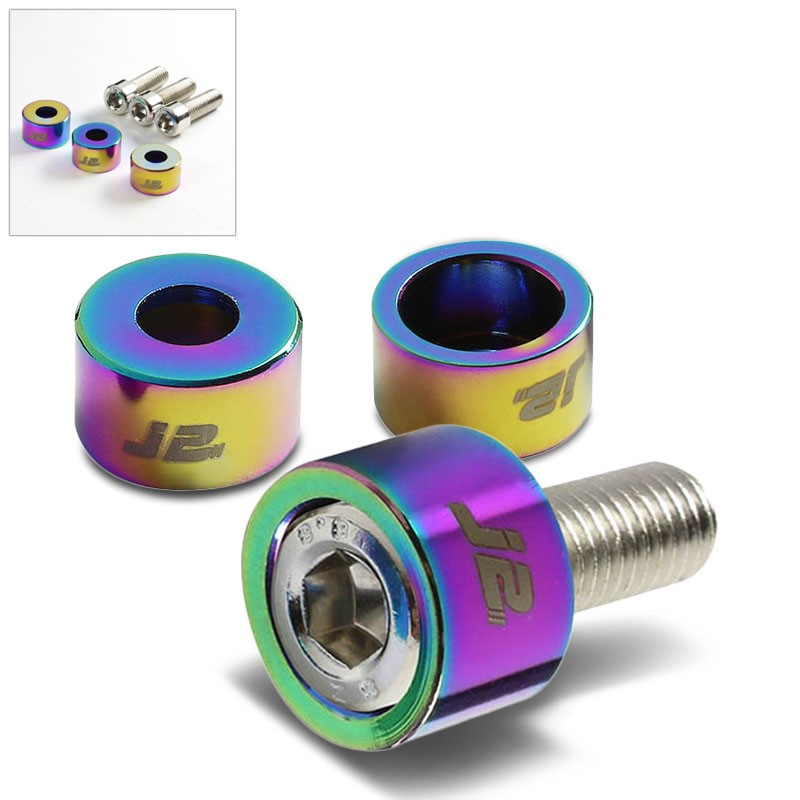 3PC J2 Neo Chrome Engine Ignition Distributor Metric Cup Washer For Honda/Acura-Washer-BuildFastCar
