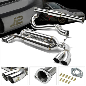"2.75"" Quad Muffler Tip Exhaust Catback System For 13-16 Subaru BRZ 2.0L H4 DOHC-Performance-BuildFastCar"