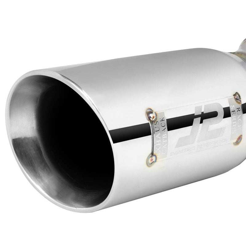 "3"" Roll Muffler Tip Exhaust Catback System For 07-13 Toyota Corolla 1.8L/2.4L-Performance-BuildFastCar"