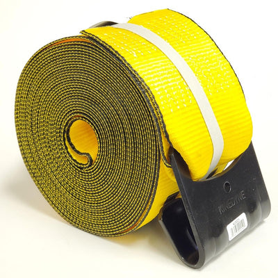 "12x Kinedyne 423021 4""x30' Winch Strap 1021 Flat Hook 5400lb For Flatbed trailer-Cargo Control-BuildFastCar-BFC-WHSP-423021-X12"
