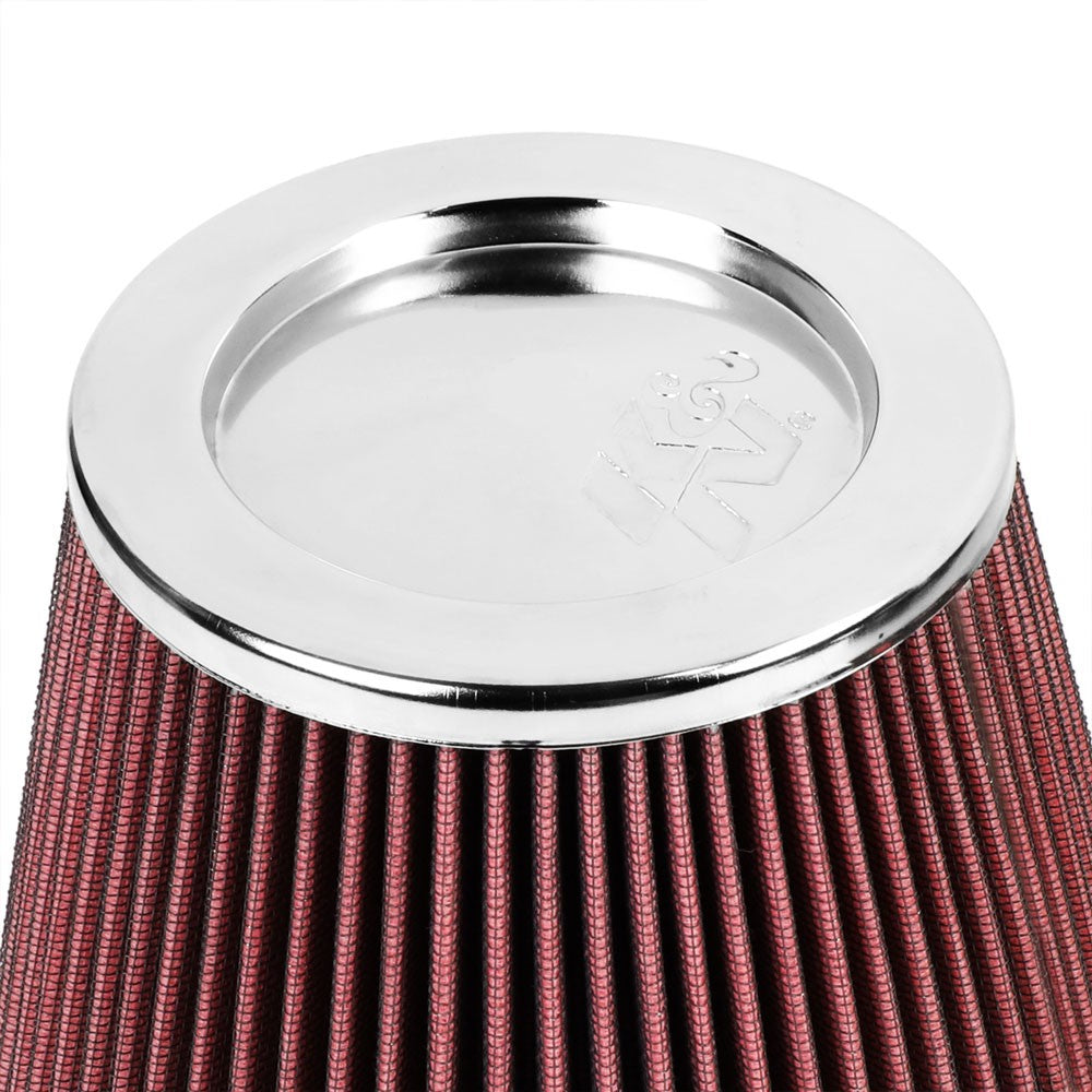 "K&N Clamp-On 6"" Inlet Round Tapered Cone RF-1042 Cotton Gauze Air Intake Filter-Filter-BuildFastCar"