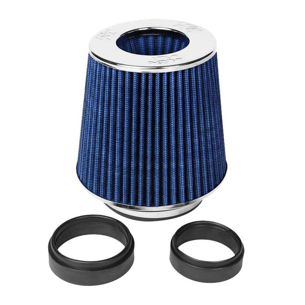 "K&N Clamp-On 4"" Inlet Round Tapered Cone RG1001BL Cotton Gauze Air Intake Filter"