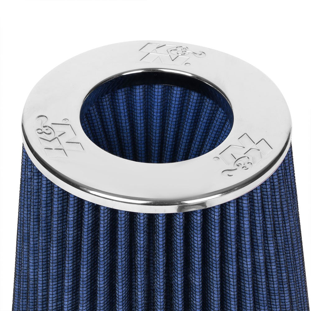 "K&N Clamp-On 4"" Inlet Round Tapered Cone RG1001BL Cotton Gauze Air Intake Filter-Filter-BuildFastCar"