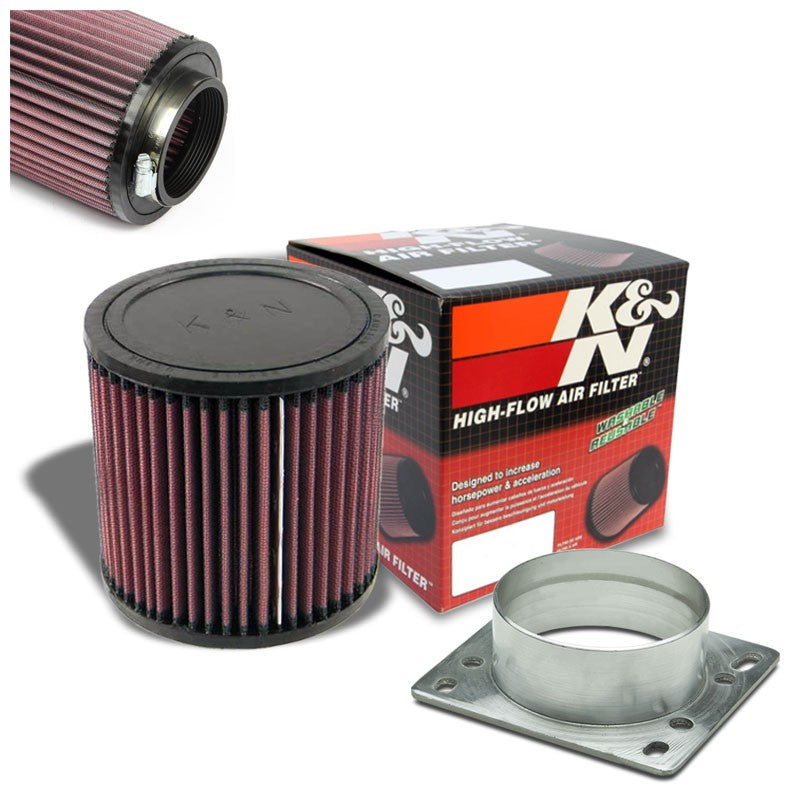 "3"" MAF Mass Air Sensor Adapter+K&N Intake Filter For Probe/RX7/Miata/MX3/MPV-Performance-BuildFastCar"