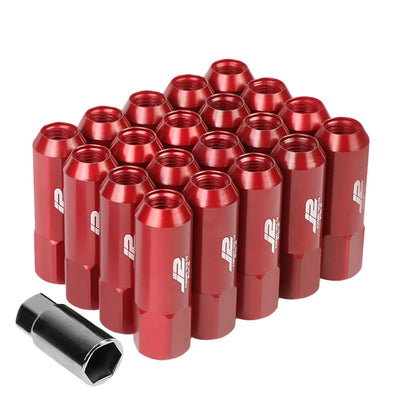 J2 Aluminum Red Open End Acorn Tuner Lug Nuts Conical Seat M12x1.25 T7-003