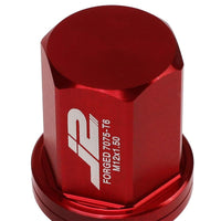 J2 Aluminum Red Close End Acorn Tuner M12 x 1.50 25MM OD/35MM Height Lug Nuts