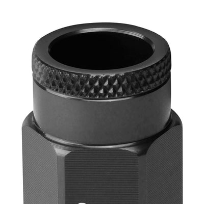J2 Black Open Knurled End Acorn Tuner Lug Nuts Conical Seat M12x1.25 T7-013-Car & Truck Wheels-BuildFastCar