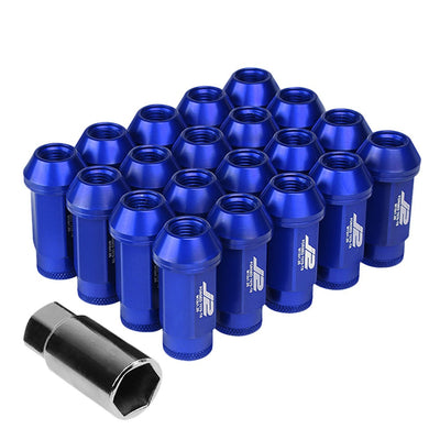 J2 Blue Open Knurled End Acorn Tuner Lug Nuts Conical Seat M12x1.25 T7-013