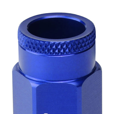 J2 Blue Open Knurled End Acorn Tuner Lug Nuts Conical Seat M12x1.25 T7-013-Car & Truck Wheels-BuildFastCar